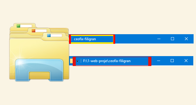 Windows 10'da Dosya ve Klasörlerin Tam Yolunu Göster