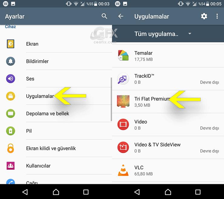 Android Telefonlardan Uygulama- Oyun Silme