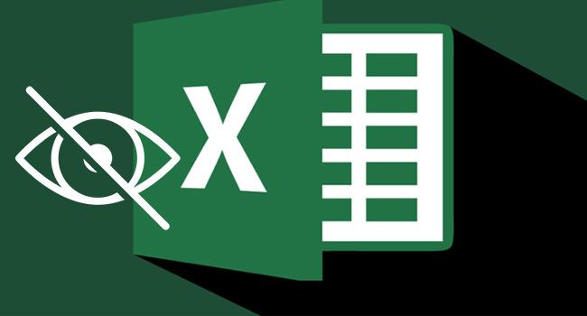 Excel'de Sütunları ve Satırları Gizle