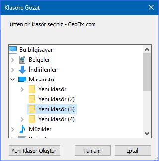 Dosyaların İsimlerini Topluca Değiştir
