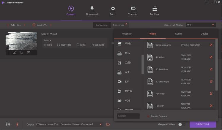 Wondershare Video Converter:En İyi Ücretsiz Video Dönüştürücü