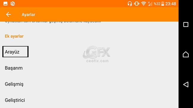 Android VLC PLayerda Kulaklık Kumandası İle Çift Dokunuşu İptal Et