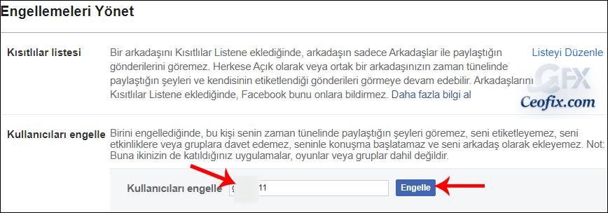 Facebook'da Profil Engelleme Nasıl Yapılır
