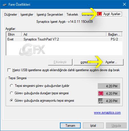 Touchpad Aşağı yukarı kaydırma sorunu nasıl çözülür?