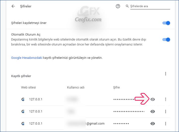 Chrome'da Kayıtlı Şifreler Nasıl Gösterilir?