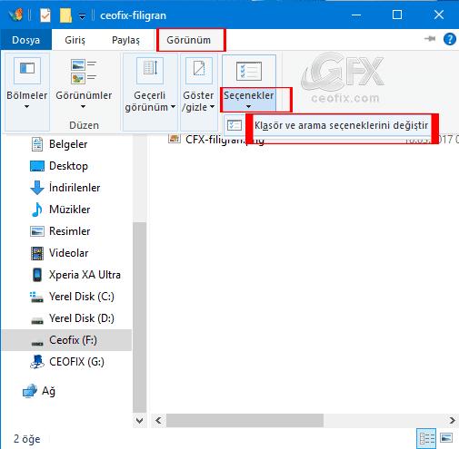 Windows 10'da Her Bir Klasörü Aynı Yada Yeni Pencerede Aç