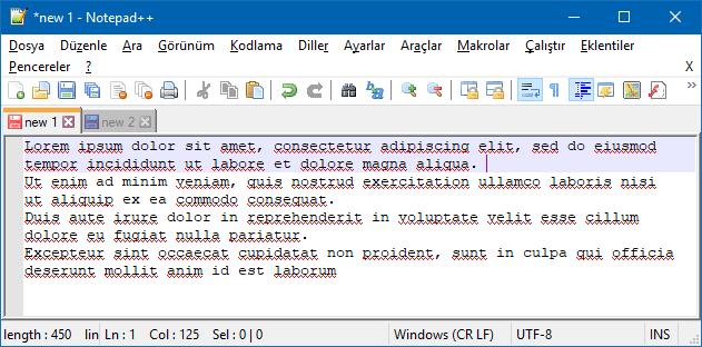 Notepad ++ ile satır numarası göster - gizle