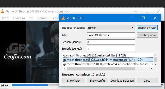 VLC PLayer'da Filme Alt Yazıyı Otomatik İndir