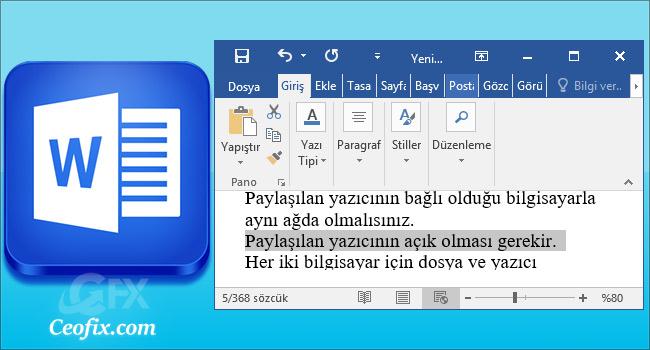 Office Word'de Tam Bir Cümle Nasıl Seçilir
