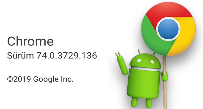 Android Chrome Tarayıcısının Sürüm Bilgisini Öğren
