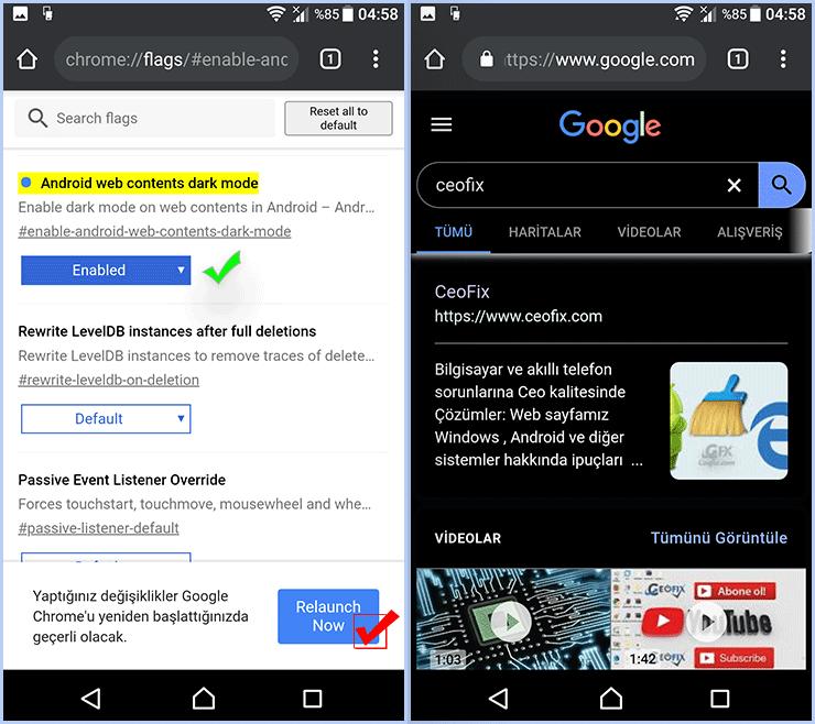 Android'de Google Chrome Karanlık Mod Nasıl Etkinleştirilir