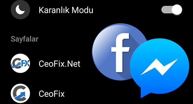 Facebook Messenger'da Karanlık Modu Etkinleştirme