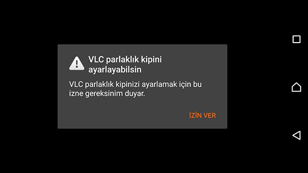 VLC parlaklık kipi