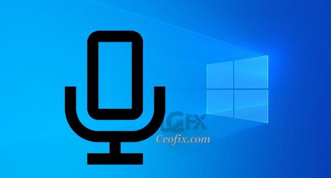 Windows 1903 'de Mikrofon'un kullanılıp kullanılmadığını gösteriyor.