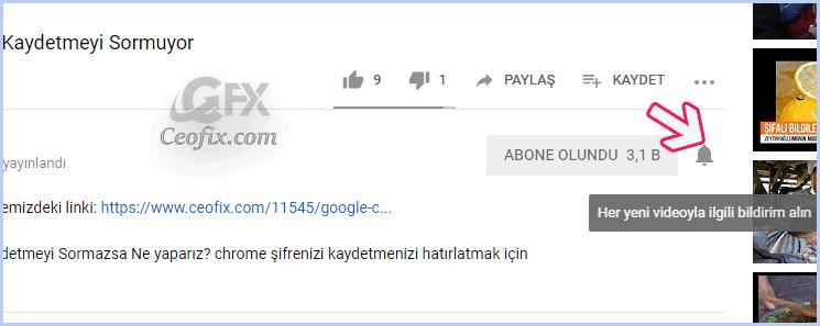 Youtube Bildirimleri Gelmiyor