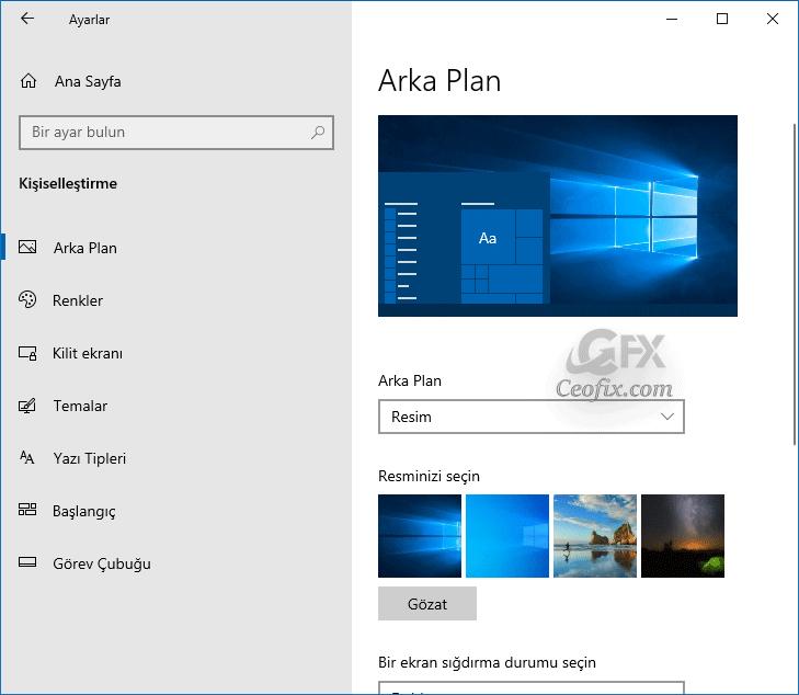 Windows 10'un Eski Masaüstü Arka Planı Nasıl Kullanılır?