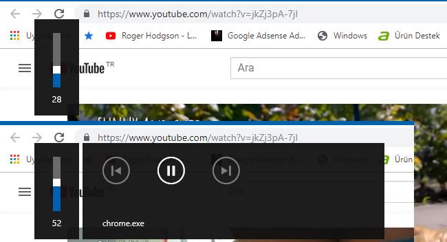 Chrome'da Ses Düzeyi Kontrolü Chrome.exe'yi Devredışı Bırak