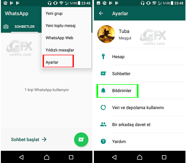 Whatsapp Bildirim Işığı