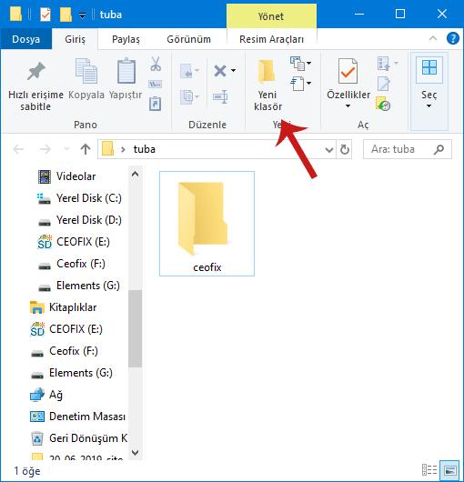 Bilgisayarda Yeni Klasör Nasıl Oluşturulur?