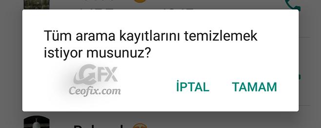 WhatsApp hesabınızdaki tüm arama kayıtlarını silme