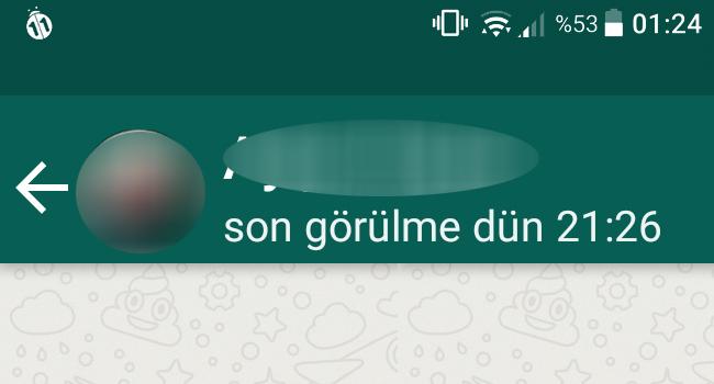 WhatsApp'ta Son Görülme Nedir-WhatsApp'ta Son Görülme Kapat