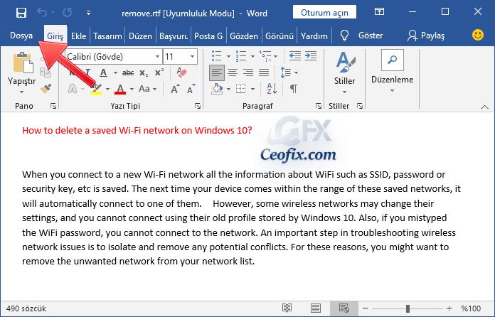 HTML dosya kaydetmek