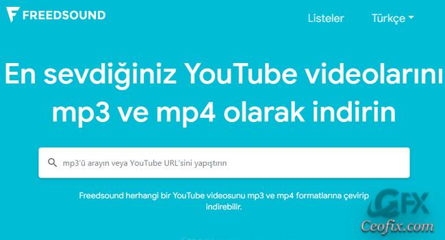 Freesound İle Mp3 Yada Mp4 Formatında Müzik İndir