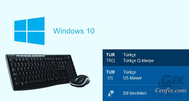 Windows 10'a Ek Klavye Dili Nasıl Eklenir