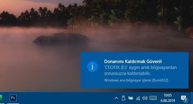 Windows 10'da Sağ Köşede Bildirimler Hemen Kayboluyor
