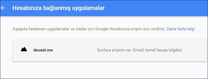 Google Hesabınız İle İlişkilendirdiğiniz Servisleri Kaldırın