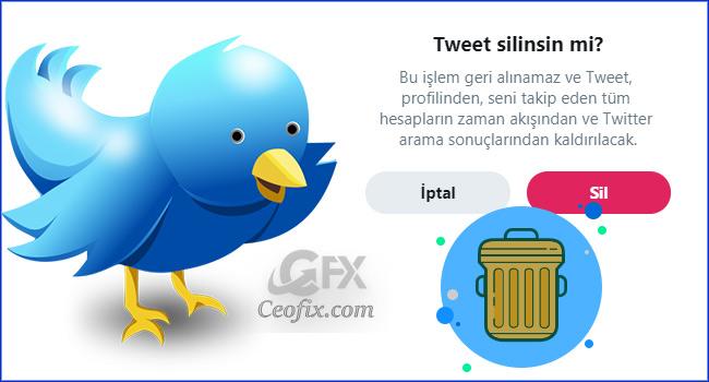 Twitter'da Gönderdiğiniz Bir Tweet Nasıl Silinir?