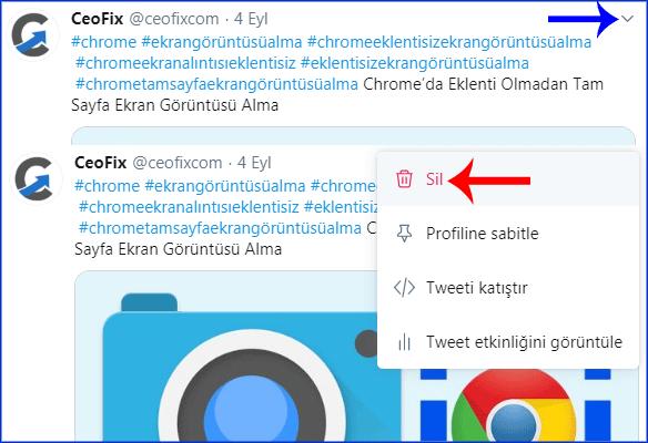 Twitter'da attığınız bir tweet nasıl silinir?