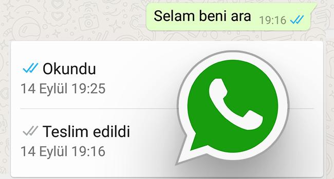 Whatsapp Okundu Ve Teslim Edildi Bilgisini Kontrol Et