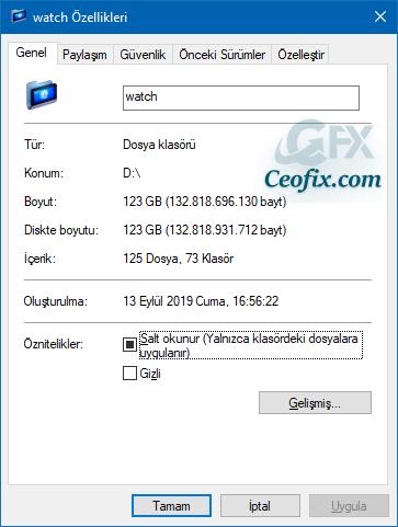 Windows'ta Klasör Boyutu Nasıl Kontrol Edilir
