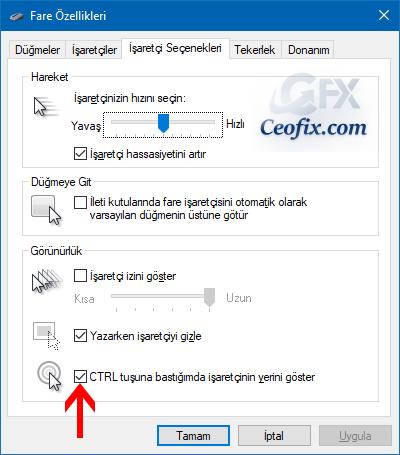 Windows'ta Kaybolan Fare İşaretçisi Nasıl Kolayca Bulunur?