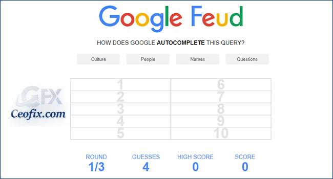 Zekanı Geliştir – Google Feud Oyna!
