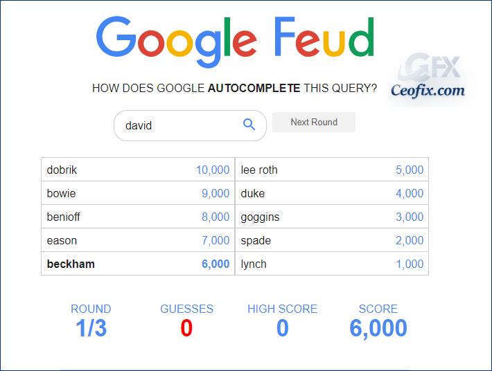 Zekanı Geliştir - Google Feud Oyna!