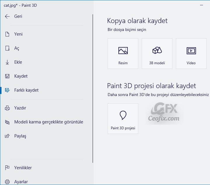 Windows 10'da Paint 3D İle Fotoğrafların Arka Planını Sil