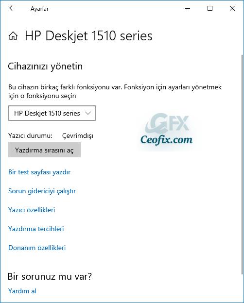 Windows 10'da Yazdırma Tercihleri Ayarları Nerede?