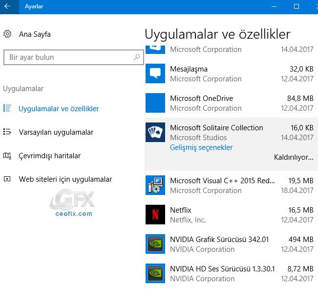 Windows 10 da Aynı Anda Birden Çok Program Nasıl Kaldırılır
