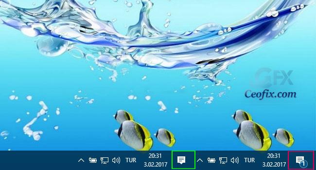 Windows 10'da Bildirimlerin Sayısı Nasıl Gizlenir