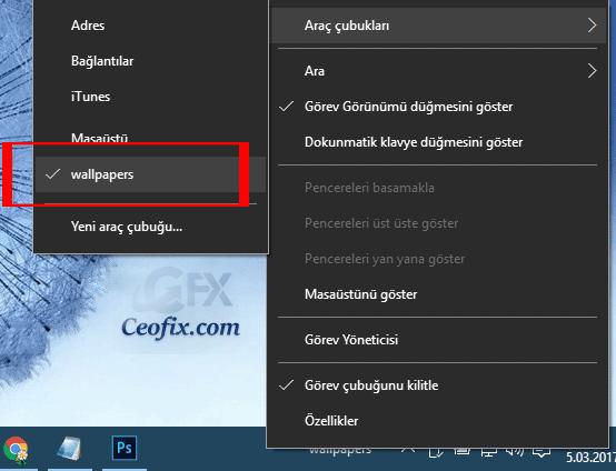 Windows 10 da Araç Çubuğunda Klasör Nasıl Açılır
