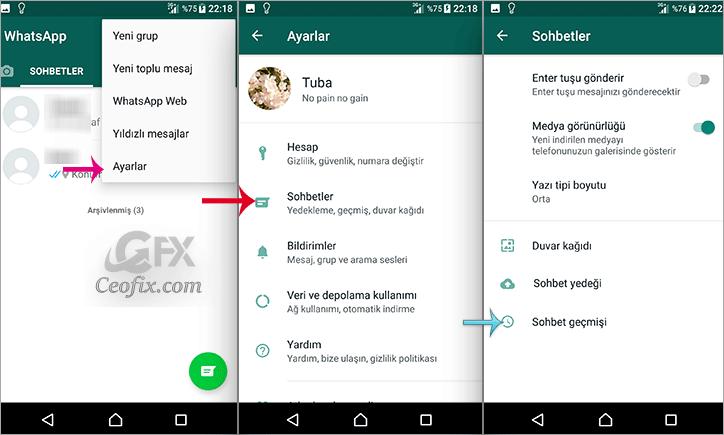 WhatsApp Sohbetlerindeki Mesajları Silmeden Gizleme