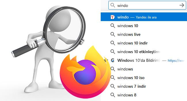 Firefox'da Adres Satırında Önerileri Devre Dışı Bırak