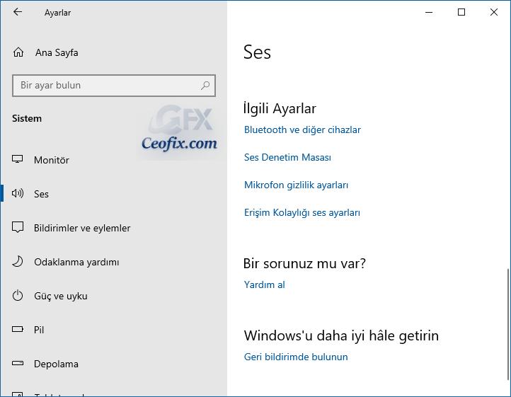 Windows 10'da Sistem Sesleri Nasıl Kapatılır?