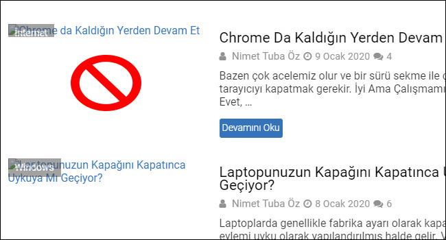 Chrome'da İnternette Gezinirken Resimler Yüklenmesin