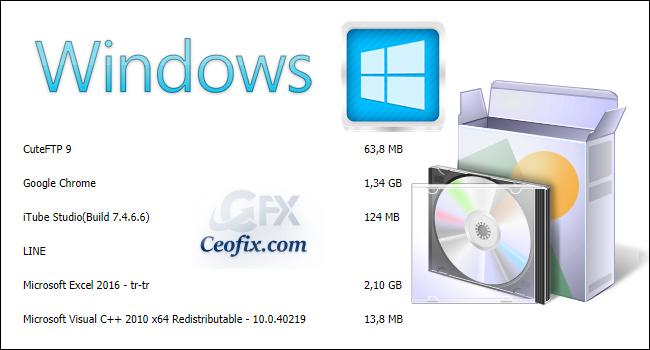 Windows 10'da Yüklü Programların Listesini Oluşturma