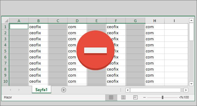 Microsoft Excel 2016'da Boş Hücreler Topluca Nasıl Silinir?