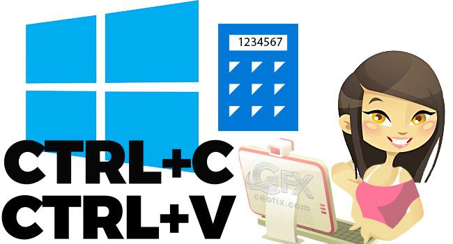 Windows 10 Hesap Makinesinde Kopyala Yapıştır İle Hesapla