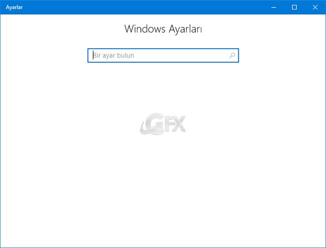Windows 10 da Ayarlar Nasıl Gizlenir